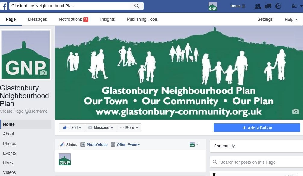 Glastonbury Neighbourhood Project Facebook Page.