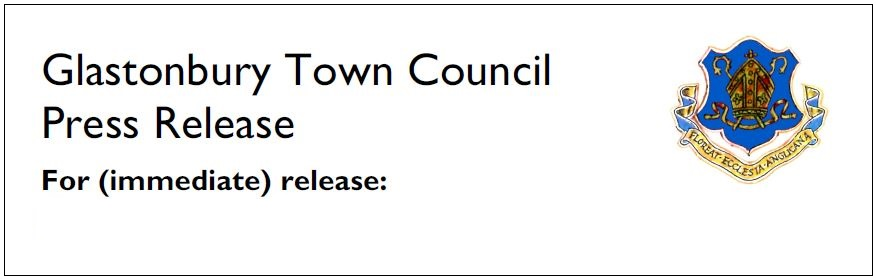 Glastonbury Town Council press release header.